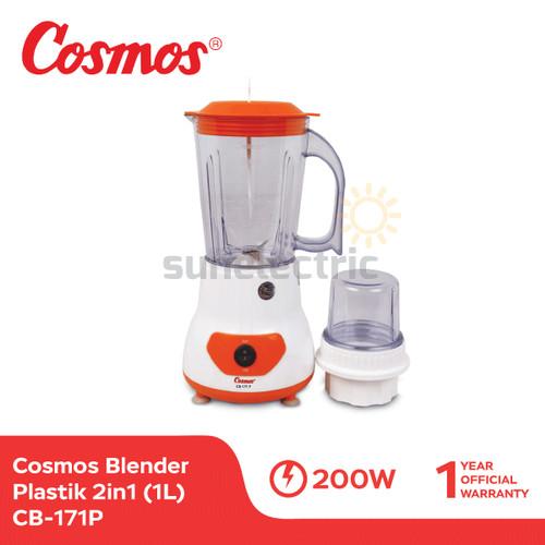 Foto Produk Cosmos CB-171 P Blender Plastik + Dry Mill 2in1 1 Liter dari SUN ELECTRIC