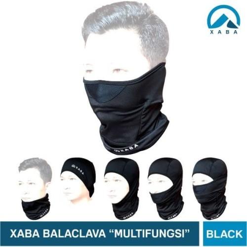 Foto Produk XABA Balaclava Hitam - Spandek- Masker Motor - Bandana - Multifungsi dari XABA