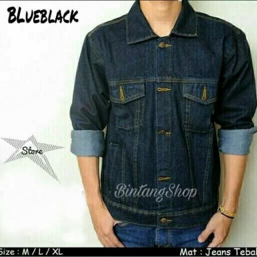Foto Produk jaket jeans pria - kwalitas premiun - jacket levis - Blueblack, M dari ARGHA GROSIR FASHION