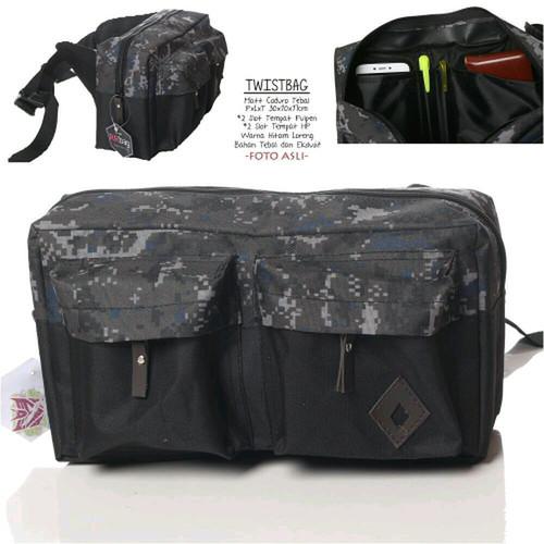 Foto Produk Tas Pinggang Messenger Bag Tas Biker SLWT Cordura Slingbag - Abu-abu dari PITUDUS