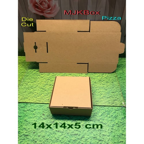 Foto Produk Kardus/karton/box. uk. 14x14x5 cm..model Die Cut dari MJKbox