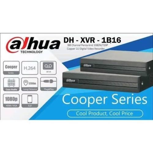 Foto Produk DVR CCTV 16CH DAHUA XVR-1B16 COOPER SERIES FULL HD 1080P 16 CHANNEL dari Distro elektronik