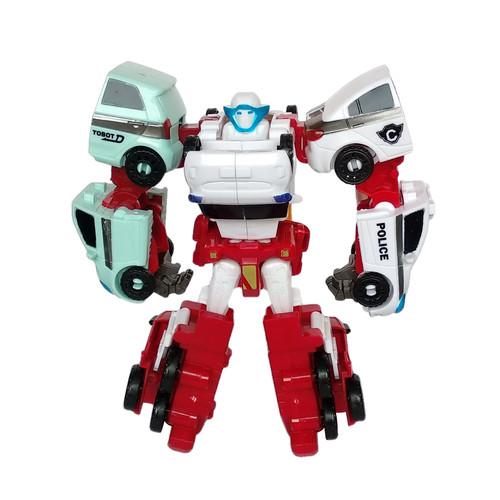 Foto Produk Tobot Quatran Merah 4 in 1 Mainan Mobil Robot Anak Laki Laki dari Grandia Shop