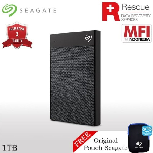Foto Produk Seagate Backup Plus Ultra Touch 1TB Free Pouch|Garansi recovery 2thn dari Win-Group
