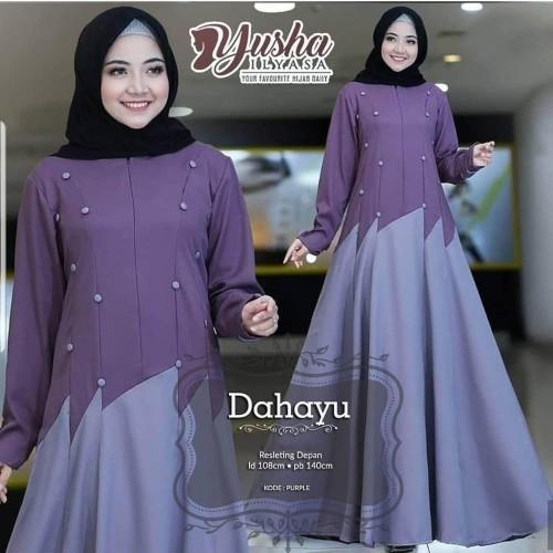 Foto Produk Baju Gamis Polos Baju Gamis Syari Wanita Terbaru Baju Dress Polos RD2 dari Grosir Hijabers