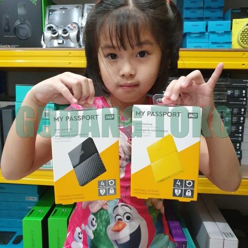Foto Produk WD MyPassport 4TB HDD Hardisk Harddisk External Eksternal WDBYFT0040B dari GudangToko