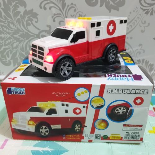 Foto Produk mainan mobil Ambulan Ambulance car suara sirine dan lampu dari Howell toys