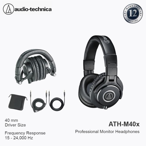 Foto Produk Audio-Technica ATH-M40X BLACK dari Audio-Technica Official