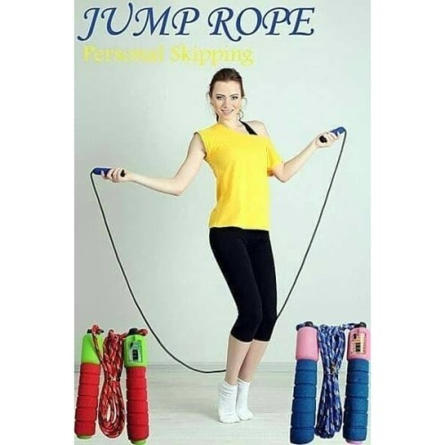 Foto Produk [180gr] B37 Skipping Rope / Lompat Tali Colorful Ada Counter/Penghitun dari Raja Market Indonesia