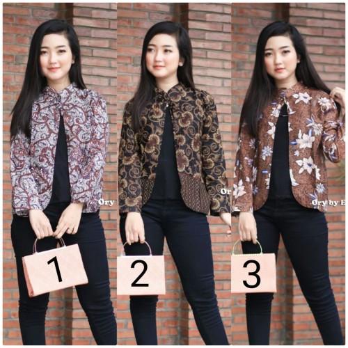 Foto Produk Baju batik wanita blouse bolero modern terbaru - M, No 2 dari SANTY-COLLECTION