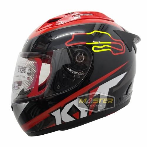 Foto Produk HELM FULL FACE KYT RC7 KYT RC 7 RC SEVEN MOTIF #15 BLACK SPAIN - L dari Master Helmet