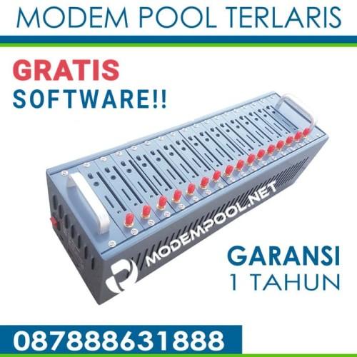 Foto Produk Modem Pool / Simbox Merk Leka 16 Port USB dari Modem Wavecom