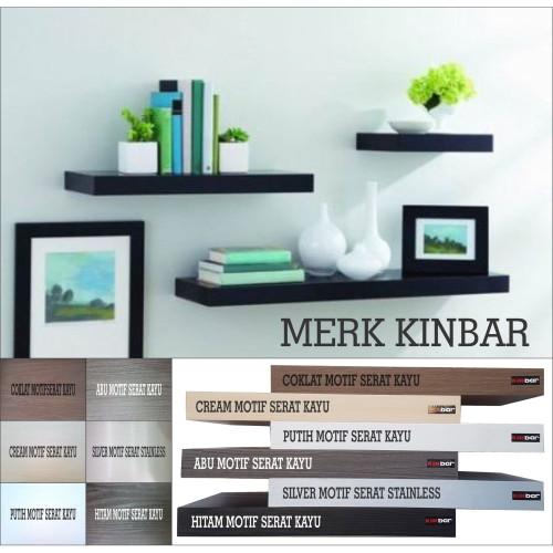 Foto Produk 60x20x4cm Rak Dinding/Ambalan/Melayang/Floating Shelf MERK KINBAR A395 dari Mega-Persada