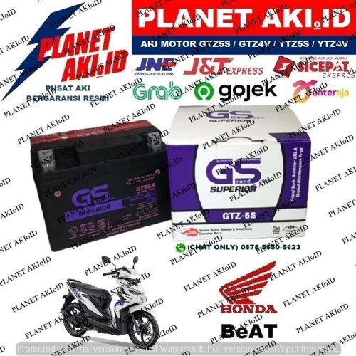 Foto Produk Aki Motor Honda Beat GTZ5S GS Y Accu Kering MF dari Planet Aki