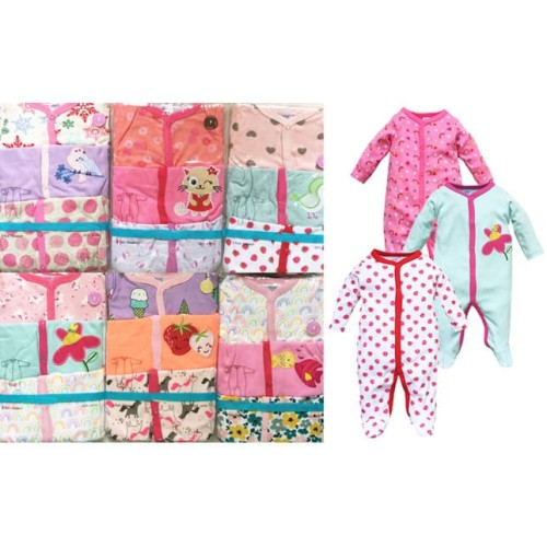 Foto Produk Sleepsuit jumper Bayi Perempuan 3in1 - NEWBORN dari Babykiddie