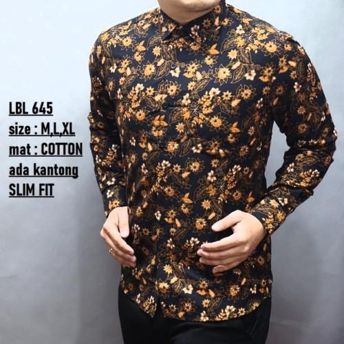 Foto Produk Baju Batik Pria Slim Fit Modern Lengan Panjang D250 dari Lina Batik Distro