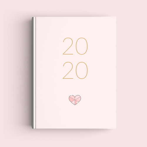 Foto Produk Simple Notebook A5 - Heart - Journal 2020 | Planner dari The Book ID