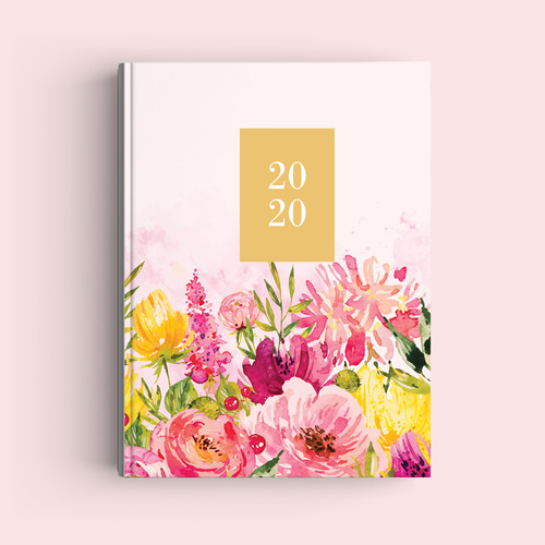 Foto Produk Notebook Custom A5 - Blooming Flowers - Journal 2020 | Planner dari The Book ID