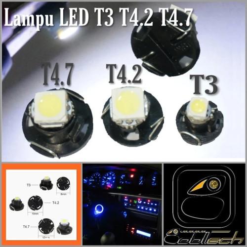 Foto Produk Lampu SpeedoMeter Dashboard Panel AC Mobil Led T3 T4.2 T4.7 - Kuning, T47 dari BoblTech_Farah