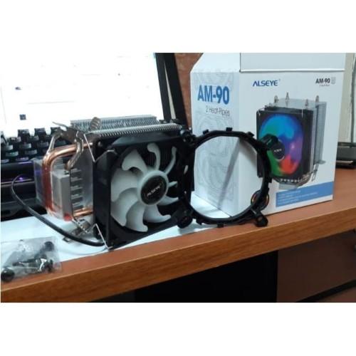 Foto Produk Alseye AM-90 for 2 HEAT PIPES for intel and AMD sesuai Deskripsi dari global aksesoris