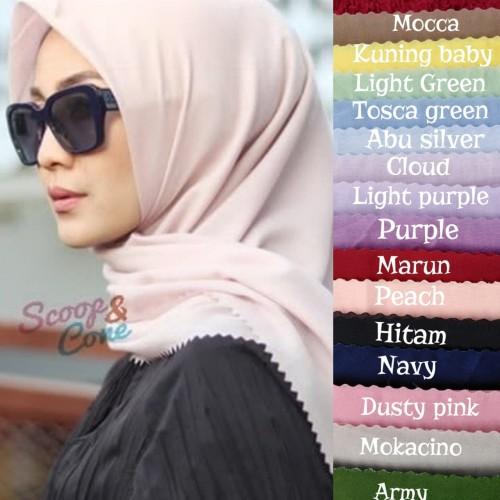 Foto Produk hijab/jilbab segi empat voal laser cut design LS001 dari immortal indonesia