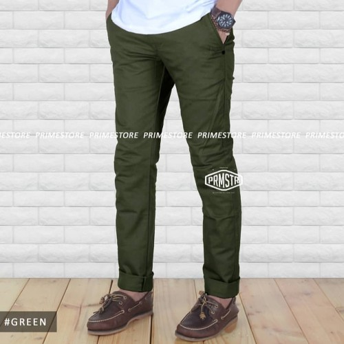 Foto Produk celana panjang chino premium warna green hijau dari majerstore