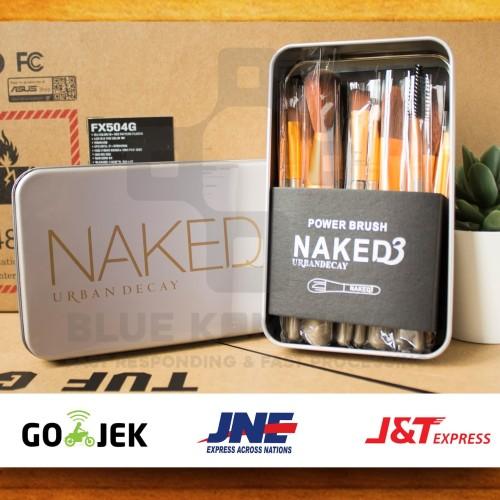 Foto Produk [ isi 12 kuas ] Make Up Brush Naked 3 / NAKED3 Brush Set Kit dari bluekomputer