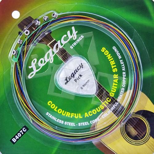 Foto Produk Senar Gitar Warna Akustik Strings Legacy B407C Colourful Guitar String dari Buy2fun