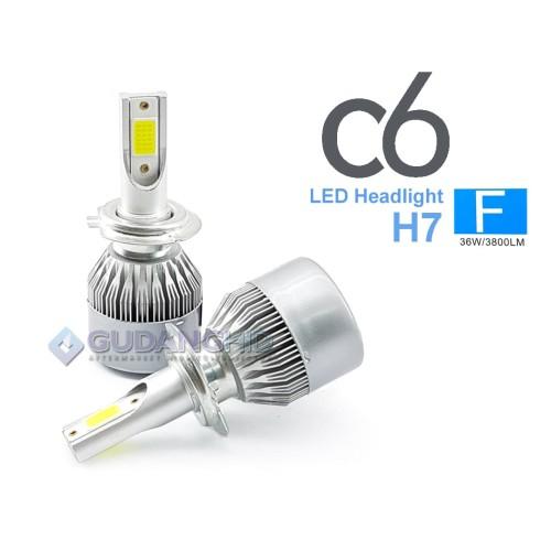 Foto Produk Lampu LED Mobil C6 H3 H7 H11 H16 HB3 HB4 35W 3800 Lumens Bergaransi - H Tujuh dari GudangHID