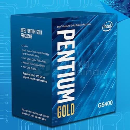 Foto Produk Processor Intel Pentium Gold G5400 3.7Ghz 4MB Coffee Lake 1151 dari t_pedia pc