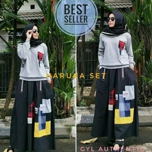 Foto Produk baju setelan muslim remaja baju dan rok/ setelan wanita terbaru dari A&A fashion olshop