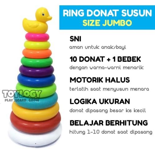 Foto Produk Mainan Bayi Menara Ring Donat Susun Tower Bebek Round Stacking Duck 10 dari Toylogy