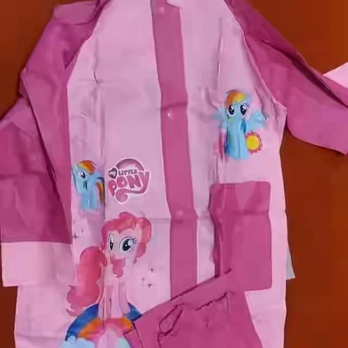 Foto Produk jas hujan anak setelan celana karakter spideman cars litte pony frozen dari bahagia makmur