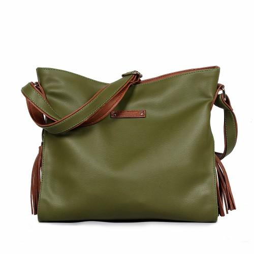 Foto Produk Ceviro Reon Casual Sling Bag Green Army dari Ceviro Bags Indonesia