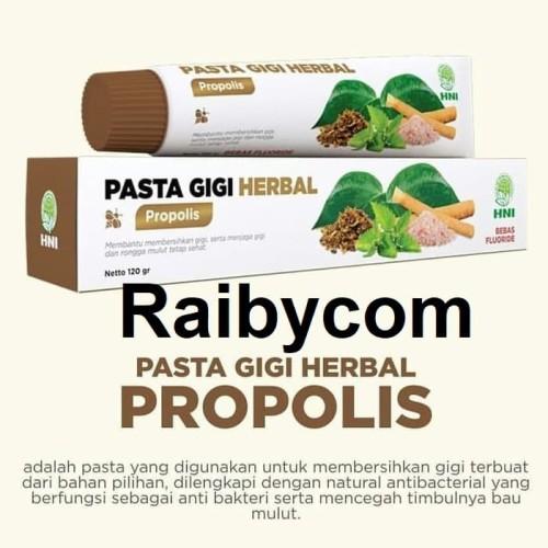Foto Produk Pasta Gigi Herbal PROPOLIS Siwak Sirih Mint HPAI Odol Non Fluoride HNI dari Raibycom