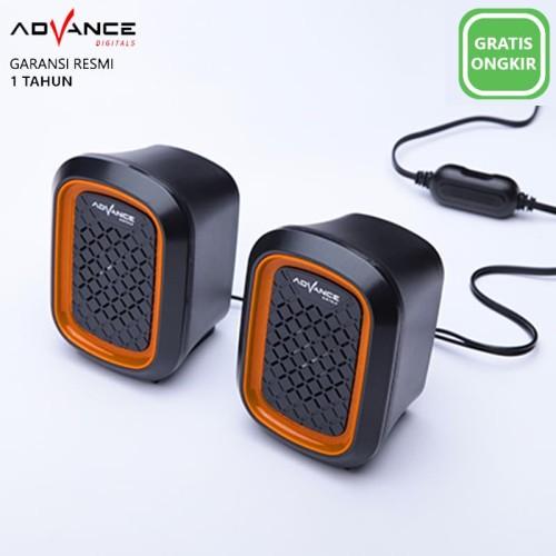 Foto Produk Advance Duo 050 Speaker 2.0 Mini Channel - Orange dari Ridista Official Store