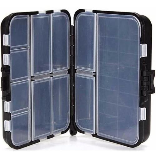 Foto Produk Box Kotak Perkakas Kail Pancing Waterproof Case - Q041 - Black dari web komputindo