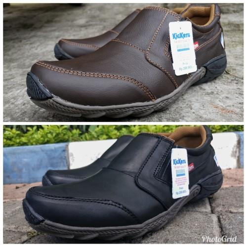 Foto Produk Sepatu kickers casual pria kulit asli dari rif&lif store