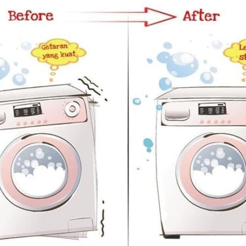 Foto Produk AR020 Bantalan Pengganjal Mesin Cuci Kulkas 4 Pcs Anti Vibration Pad dari Home Diaries