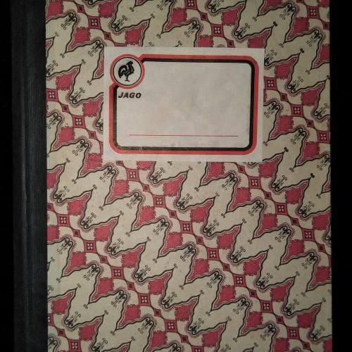 Foto Produk Buku Tulis Tebal Langka Ukuran Kwarto Hard Cover Batik dari Quincy Tom