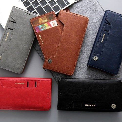 Foto Produk CMAI2 Wallet samsung galaxy note 8 flip leather case cover card dompet dari acosonic