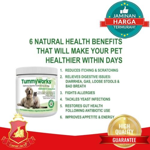 Foto Produk Vitamin Probiotic Penghilang Bau Kotoran Kencing Anjing Kucing Hewan dari Caesar Jac'O