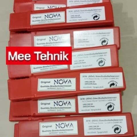 Foto Produk Pisau Planer TCT Merk Nova 200 x 20 x 3mm Rp.140.000/pcs dari Mee Online Order