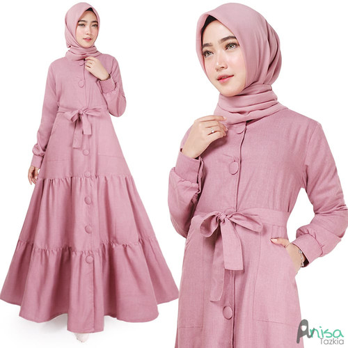 Foto Produk Gamis Muslim Original | Deanova Maxi | Dusty Supernova - Dusty dari Tazkia Hijab Store