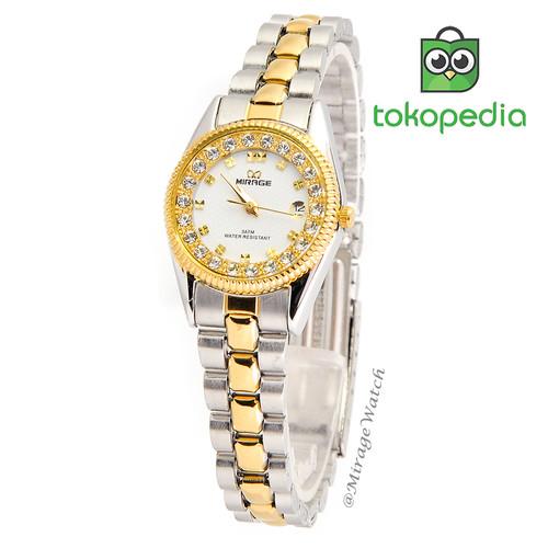 Foto Produk Jam Mirage Original Wanita Permata RX 1580L Kombinasi Silver-Gold pP dari Mirage Watch