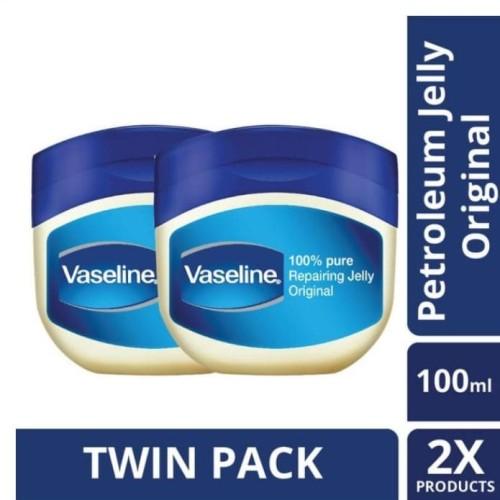Foto Produk Vaseline Petroleum Jelly Repairing Jelly 100Ml Twin Pack dari Unilever Official Store