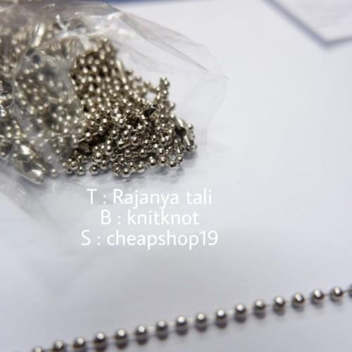 Foto Produk rantai kuki rantai biji lada rantai hang tag hangtag 10cm isi 144pcs dari Rajanya Tali