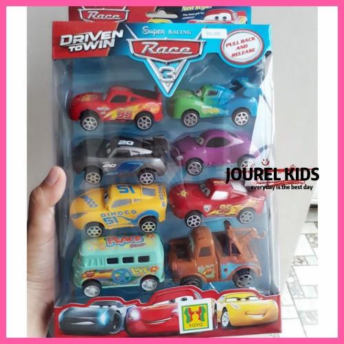 Foto Produk mainan the cars mc queen diecast set mobil pull back super racing dari jourel kids