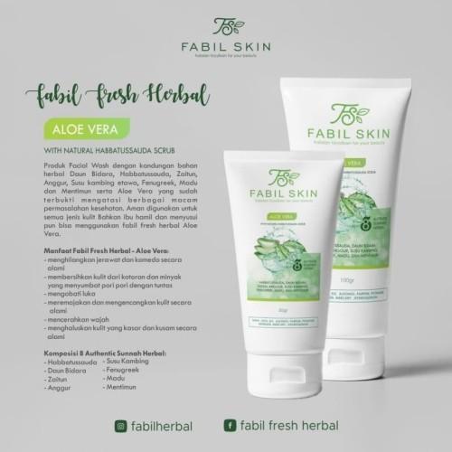 Jual Fabil Fresh Herbal Facial Wash Aloe Vera Cuci Muka Lidah Buaya 50 Gr Jakarta Selatan Fabil Skin Jaksel Tokopedia