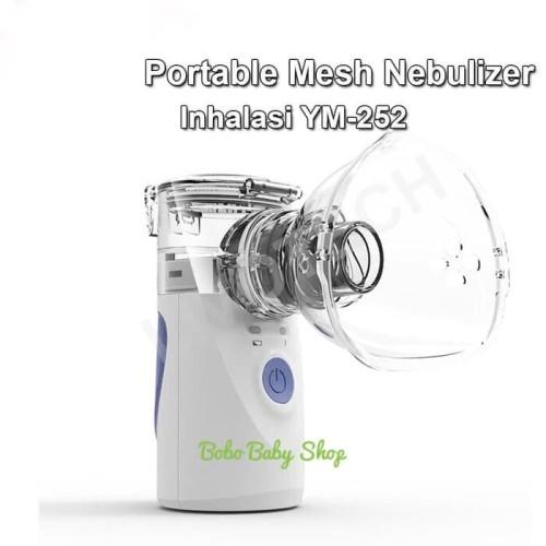 Foto Produk Portable Mesh Nebulizer Alat Uap Bantu Pernafasan Asma Inhalasi YM-252 dari bobo baby shop